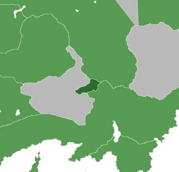 Location of Nolova (Green); UNAC (Light Green)